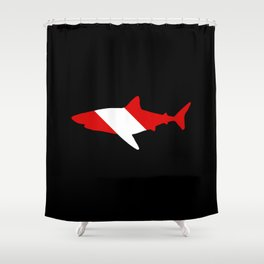 Diving Flag: Shark Shower Curtain
