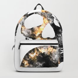 Skull of smoke and fire Backpack