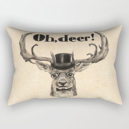 Oh, deer me! Rectangular Pillow