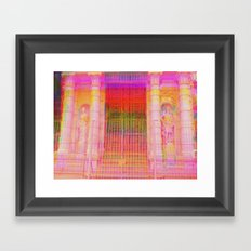 Multiplicitous extrapolatable characterization. 18 Framed Art Print