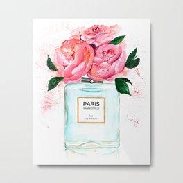 Paris perfume Floral Art Metal Print