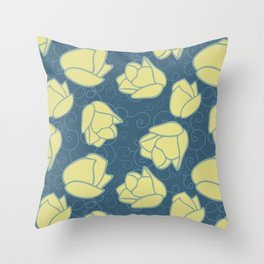 Spring Patio Collection - Tulip Swirl Throw Pillow