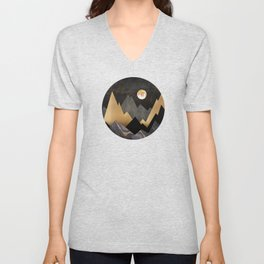 Metallic Night Unisex V-Neck