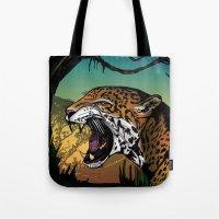 jaguar Tote Bags featuring Jaguar by Adamzworld