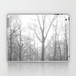 Black and White Forest Illustration Laptop & iPad Skin