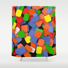 wild color pieces Shower Curtain