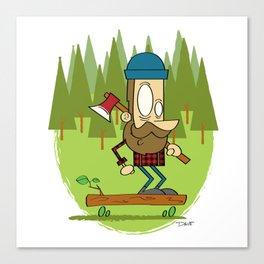 Lumber Jack Sk8er Canvas Print