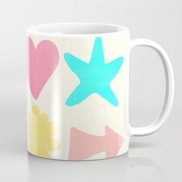 Pastel Shapes Pattern on Pale Yellow Coffee Mug