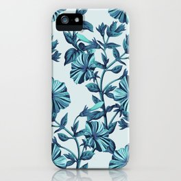 Morning Glories in Blue iPhone Case