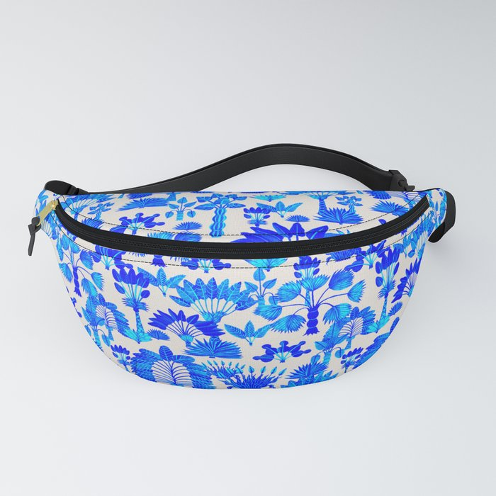Exotic Garden Blue Fanny Pack