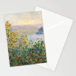 Flower Beds at Vétheuil by Claude Monet 1881 Stationery Cards