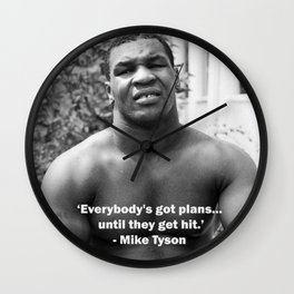 Mike Tyson Quote Wall Clock