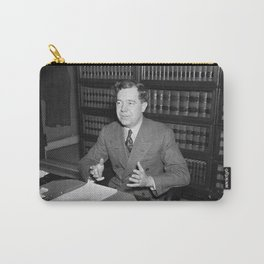 Senator Huey Long At His Desk - 1935 Carry-All Pouch