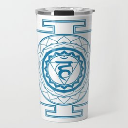 Sri Yantra Throat Chakra Travel Mug