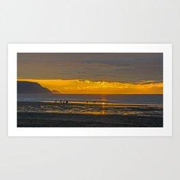 Widemouth Bay Sunset Art Print