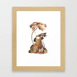 Mushroom Hunter Framed Art Print