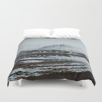 scotland Duvet Covers featuring Glencoe, Scotland by Diana Eastman