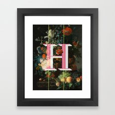 Letter H Framed Art Print