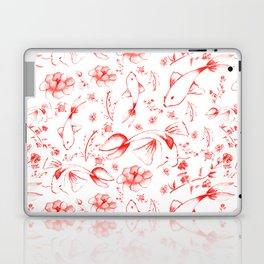 Watercolor KOI Fish in red Laptop & iPad Skin