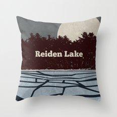 Reiden Lake (Fringe) Throw Pillow