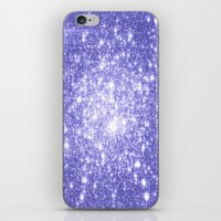 lavender iPhone & iPod Skins featuring Lavender Periwinkle Sparkle Stars by WhimsyRomance&Fun