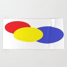 Red Yellow Blue Modern Circles Beach Towel