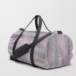 Glamorous Rose Gold Purple Wavy Glitter Lines Duffle Bag