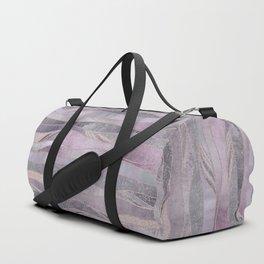 Glamorous Rose Gold Purple Wavy Glitter Lines Duffle Bag