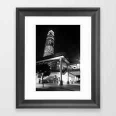 Central Pier [Black & White] Framed Art Print