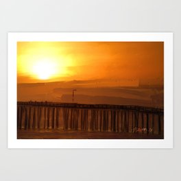 Cayucos Sunset Art Print