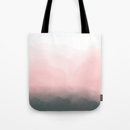 Rose Gold, Blush Pink and Grey Ombre Boho Sky Tote Bag