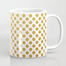 Gold dots on white Coffee Mug