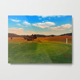 Summer season at the golf club | landscape photography Metal Print