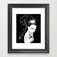 Smoke Girl Framed Art Print