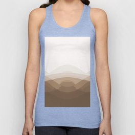 Beige Taupe Ombre Unisex Tank Top