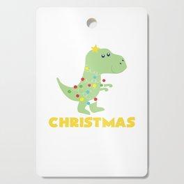 Christmas Tree T Rex Dinosaur Funny Gift Cutting Board