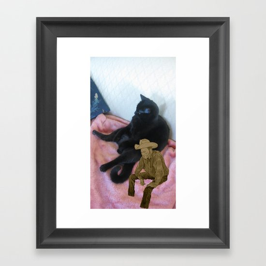Awkward Silence After Boot-eating Confession Framed Art Print