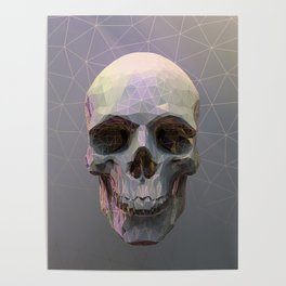 Skull Colorful Wires 1 Poster