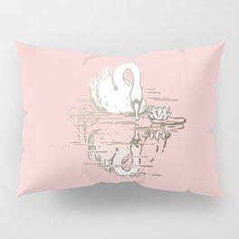 Beautiful Swan Reflection - Shell Pink Pillow Sham