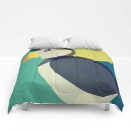 Mid Century Puffin Comforters