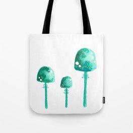 Green Mushrooms Tote Bag