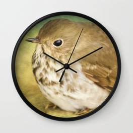 Bird Art - Patiently Waiting Wall Clock