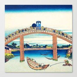 The Bridge Art River Tardis Canvas Print