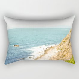 Travel photography Palos Verdes Ocean Cliffs Seascape Landscape III Rectangular Pillow