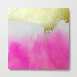 Pink Gold Waterfall Metal Print