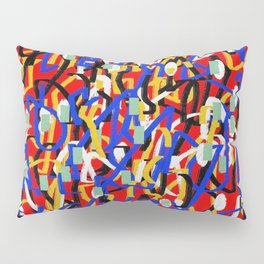 Abstract laberinto red blue Pillow Sham