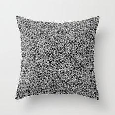 White Scallops Throw Pillow