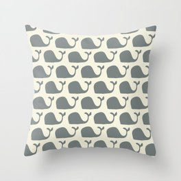 mr whale  Throw Pillow