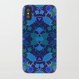 Lila's Flowers Repeat Blue iPhone Case