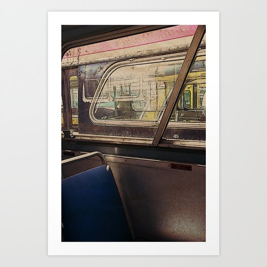 empty bus Art Print